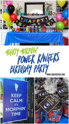 How to Throw a Mighty Morphin' Power Rangers-Themed Birthday Party