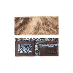 Men's Wallet - Cowhide Blue Bandana