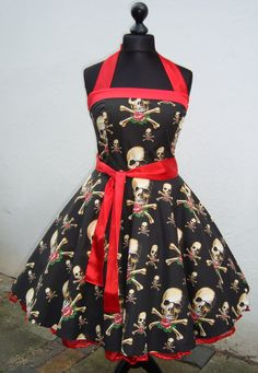 Love this fabric Rockabilly Fashion, 1950s Fashion, Punk Fashion, Runway Fashion, Vintage Fashion, Fashion Outfits, Rockabilly Wedding, 50s Rockabilly, The Dress