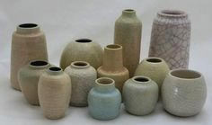 Crackle vases from Pieter Groeneveldt. Found these collection on DutchArtPottery