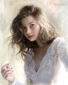 ▷ - Justine S. Florentino - Anastasia, i have wanted to paint the angelic Anastasia, Russian Beauty, Beautiful Girl Image, Beautiful Women, Girl Face, Famous Artists, White Girls, Indian Beauty, Foto E Video