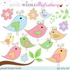 Cute Bird Png Pastel Chatter Birds Cute