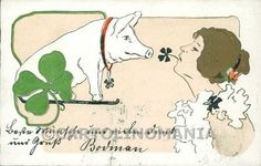 Art Nouveau Raphael Kirchner BRW postcard cartolina RK222