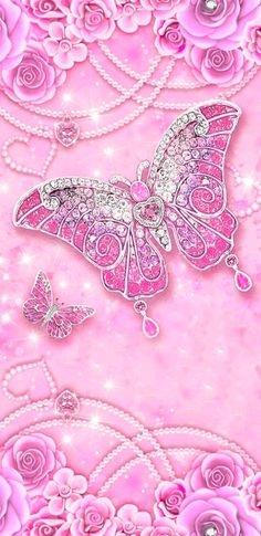 Pink Wallpaper Girly, Paris Wallpaper, Butterfly Wallpaper, Fashion Wallpaper, Glitter Wallpaper, Butterfly Art, Butterflies, Cartoon Wallpaper Iphone, Cellphone Wallpaper