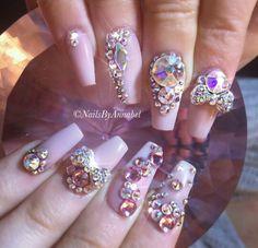 Nails nail Rhinestone Nails, Bling Nails, Swag Nails, Glitter Nails, Stiletto Nail Art, Acrylic Nails, Coffin Nails, Acrylics, Gorgeous Nails