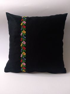 Excited to share the latest addition to my shop: Handmade folk needlepoint decorative pillow cover , Embroidered floral folk motifs pillowcase , Needlepoint pillowcase , Traditional motifs Cushion Embroidery, Embroidered Cushions, Simple Embroidery, Hand Embroidery Designs, Embroidery Stitches, Embroidery Patterns, Diy Pillow Covers, Decorative Pillow Cases, Decorative Cushions