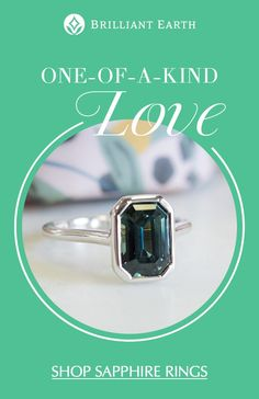 Shop our extensive collection of ethical teal sapphires, which can be set in any of our engagement ring settings. Diamond Jewelry, Jewelry Rings, Unique Jewelry, Jewelery, Jewelry Accessories, Fine Jewelry, Pretty Rings, Beautiful Rings, Engagement Ring Settings