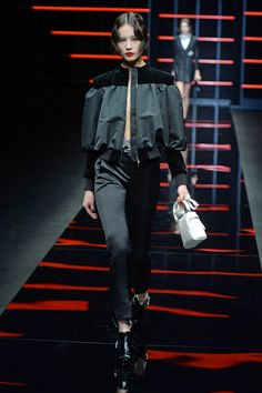 See all the looks from the show Fall Trends, Emporio Armani, Fashion News, Normcore, Punk, Runway, Jackets, Textiles, Coats