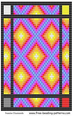 Sunrise Diamonds, a FREE loom beading pattern