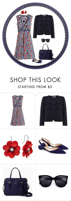 """""""Untitled #1520"""" by milliemarie ❤ liked on Polyvore featuring Rebecca Taylor, Mint Velvet, Paul Andrew and Kate Spade"""