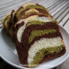 Baking Taitai 烘焙太太: Camouflage Breadmaker Loaf 迷彩面包机吐司 (中英加图对照食谱)