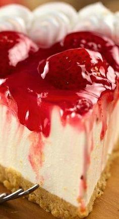 No Bake Strawberry Cheesecake...
