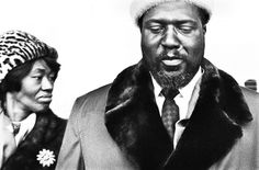 Thelonious Monk and his wife Nellie, Milan, 1964.