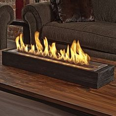 Very cool table-top fire pit.  Clean burning, fuel can be scented, too.