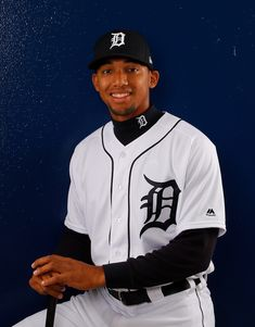 Dixon Machado Photos - Dixon Machado of the Detroit Tigers poses for a photo during photo days on February 2018 in Lakeland, Florida. Detroit Tigers Baseball, Braves Baseball, Baseball Players, Casey Stengel, Baseball Scoreboard, Tiger Stadium, Lakeland Florida, Poses, February