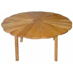 Radial Oak Dining Table | From a unique collection of antique and modern dining room tables at http://www.1stdibs.com/furniture/tables/dining-room-tables/