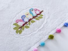 This Pin was discovered by Hül Cross Stitch Designs, Cross Stitch Patterns, Hobbies And Crafts, Diy And Crafts, Wedding Cross Stitch, Bird Crafts, Cross Stitch Animals, Bargello, Baby Sewing