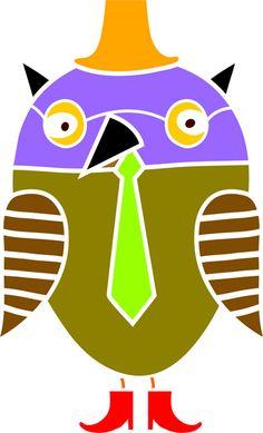 Mr. Professor Owl Stencil