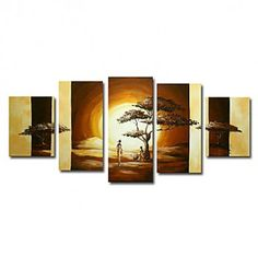 Hand-painted Landscape Oil Painting -wish i could paint like this Landscape Pictures, Landscape Art, Landscape Paintings, Oil Paintings, African American Art, African Art, 3 Piece Art, Online Painting, Art Market