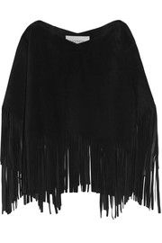 Valentino Fringed suede poncho