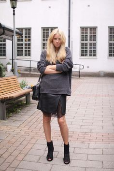 cool skirt. Tine in Stockholm. #TheFashionEaters