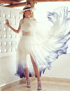 Carola Remer Models Seaside Style for Vogue Mexico by Jason Kim - Fashion Gone Rogue