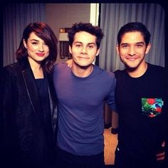 Crystal Reed, Dylan O'Brien and Tyler Posey