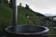 Hot Tub mit Bergblick