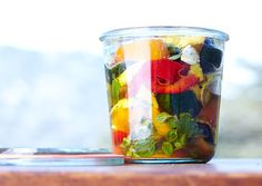 Marinated Summer Vegetables. So easy for a veggie treat to have on hand.