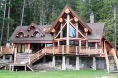 The Ruby Lake log home plan is an impressive getaway cabin building. The luxury log cabin is truly a . Cabana, Ideas De Cabina, How To Build A Log Cabin, Log Cabin Homes, Log Cabins, Rustic Cabins, Log Home Designs, Cabin In The Woods, Mountain Homes