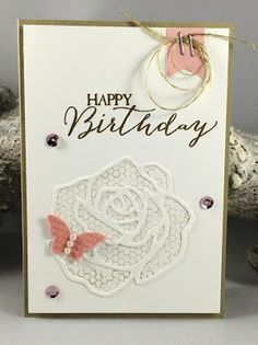 Monday 11 January 2016 Caring for Stamps: Stampin' Up! Rose Garden Thinlits
