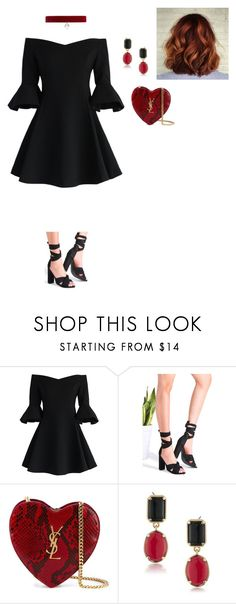 """Untitled #31"" by ireneintan on Polyvore featuring Chicwish, Yves Saint Laurent, 1st & Gorgeous by Carolee and Joomi Lim"