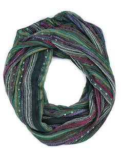 Women's Festival Bliss Infinity Scarf, Multicolor Boho Chic Shawl (Bejeweled Black) at Amazon Women's Clothing store: