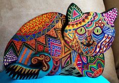 Hand Painted  Bohemian Quilt Design Playful by NanabugsTreasures, $22.50