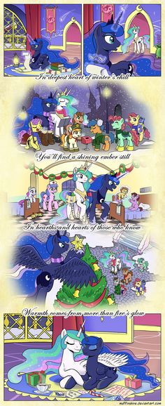 Comic - Hearth's Warming for Luna by muffinshire on deviantART