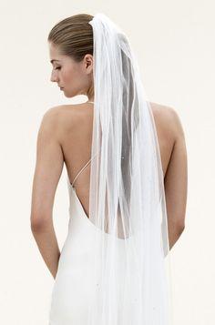 Scatter Crystal Silk Tulle Veil
