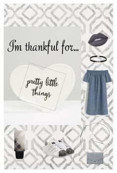 """""""pretty little things"""" by marianaloalv on Polyvore featuring nuLOOM, Sass & Belle, Nine West, J.Crew, adidas Originals, Lime Crime, Burberry and imthankfulfor"""