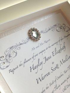 10 Luxury Boxed Wedding Invitations by TheLittleWeddingBox on Etsy, £70.00