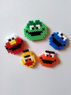 Sesame Street magnet set hama beads by Astrid's Zauberstübchen