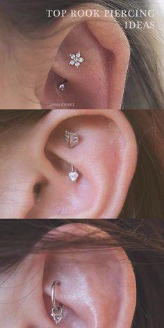 Daith Piercing, Rook Piercing Jewelry, Ear Piercings Rook, Rook Earring, Cute Piercings, Body Piercings, Ear Jewelry, Piercing Tattoo, Body Jewelry