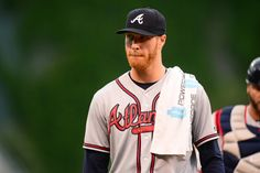 Caption:Jul 21, 2016; Denver, CO, USA; Atlanta Braves starting pitcher Mike Foltynewicz (26) before the game against the Colorado Rockies at Coors Field. Mandatory Credit: Ron Chenoy-USA TODAY Sports