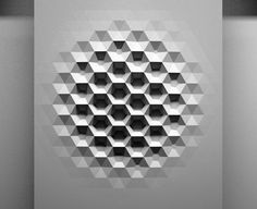 I like the black and white colors and the contrast and the hexagon shapes. The texture also looks cool.