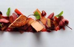 Foie gras with rhubarb and duck breast - Alan Murchison
