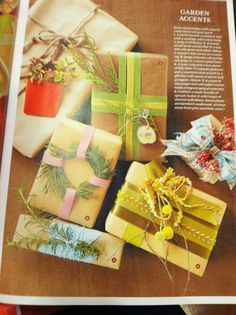 Christmas gift wrapping ideas!