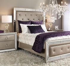 40+ Amazing Contemporary Purple Bedroom Ideas