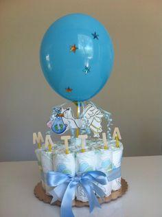 Mini torta di pannolini nascita