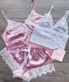 I fell in love . Jolie Lingerie, Lingerie Outfits, Pretty Lingerie, Lingerie Set, Women Lingerie, Beautiful Lingerie, Cute Sleepwear, Sleepwear Women, Pajamas Women