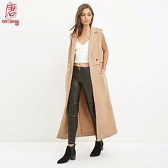 Cheap coated cable, Buy Quality coat sweaters for women directly from China coat stand Suppliers: 2016 Spring & Summer New Fashion OL Two Buttons Slim Sleeveless Coat Long Trench Overcoat for Women