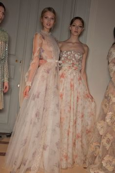 Toni Garn and Nimue Smit backstage at Valentino Haute Couture Spring 2012