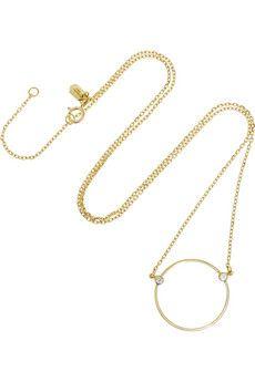 Maria Black Fine Jewelry Monocle 18-karat gold diamond necklace | NET-A-PORTER